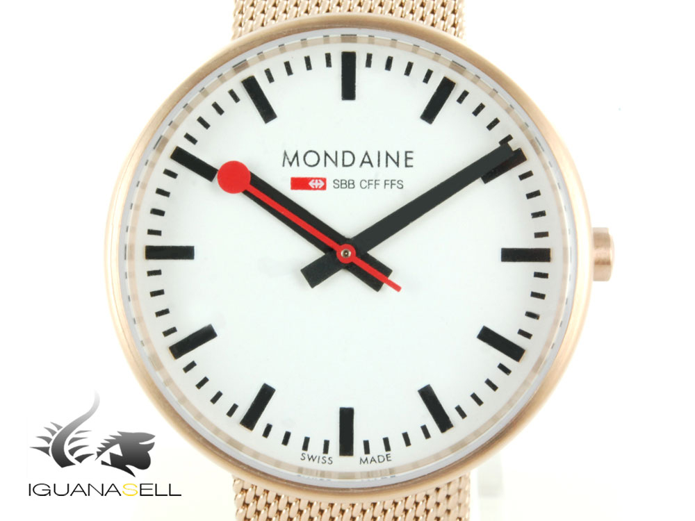 reloj de cuarzo mondaine sbb mini giant blanco 35mm malla ebay. Black Bedroom Furniture Sets. Home Design Ideas